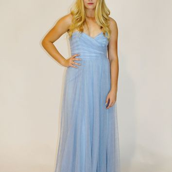 Blue Heavenly Strapless gown