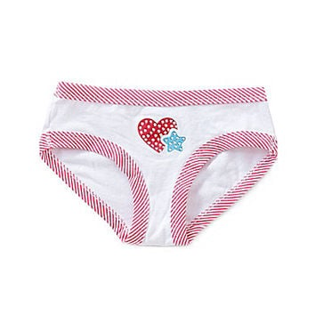 Copper Key Heart & Star Hipster Panty - White