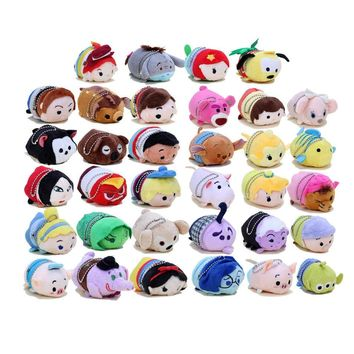 Tsum Plush Toys Screen Cleaner Snow White Princess soft stuffed dolls keychain pendant TSUM TSUM DOLLS