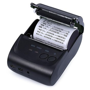 TOPS ZJ - 5802LD High Speed And Clear Printing Mini Thermal Printer 58mm Thermal Receipt Printer Android Bluetooth 2.0 Port