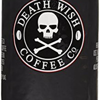 Death Wish Whole Bean Coffee, The World's Strongest Coffee, Fair Trade and USDA Certified Organic - 16 Ounce Bag