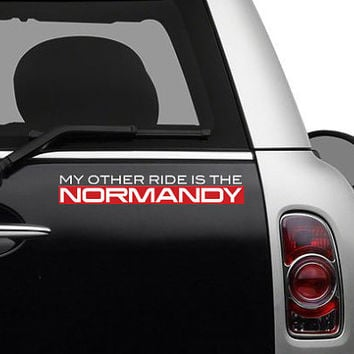 Mass Effect - My Other Ride Is The Normandy Vinyl Decal