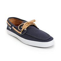 Vans Chauffeur Navy Blue & Tan Boat Shoe