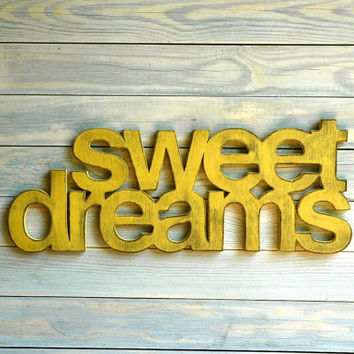 Sweet Dreams Handmade Wall Art Sign Nursery Kids Room Decor