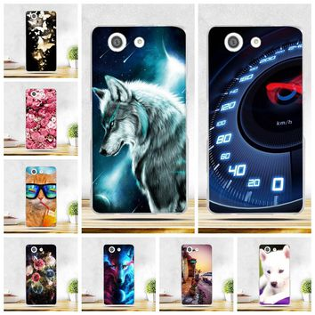 """Painted Case For Sony Xperia Z3 Mini D5803 D5833 4.6"""" Soft TPU Cover For Sony Xperia Z3 Compact Cases For Sony Xperia z3 Compact"""