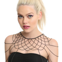 Blackheart Black Choker Shoulder Chain