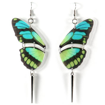 I liked this design on #Fab. Butterfly Earrings Blue