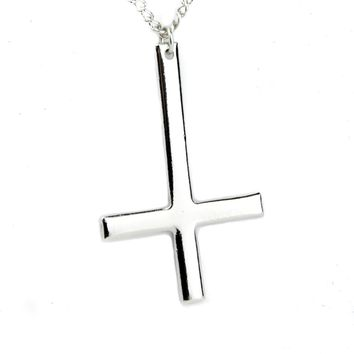 Polished Inverted Unholy Cross Necklace Black Metal Ritual Occult Jewelry Day-First™