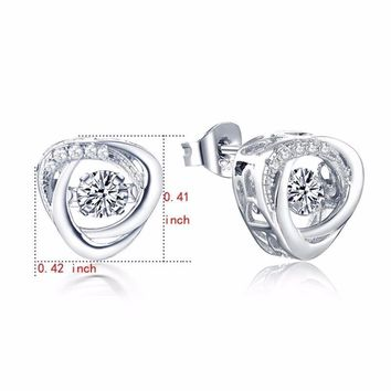 Women's Sterling Silver Stud Earrings