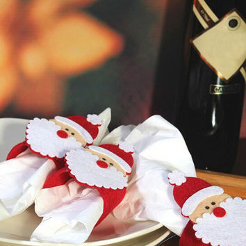 Christmas Table Decor Napkin Holder