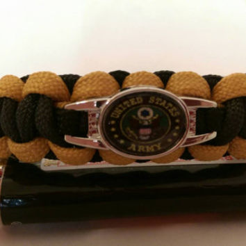 US Military, Air Force, Navy, Army, Marines, Veterans paracord bracelet supports a non profit