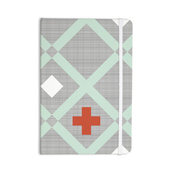 "Pellerina Design ""Mint Lattice Weave"" Gray Mint Everything Notebook"