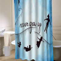 peter pan never grow up Shower Curtain