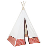 6' Hideaway Polka Dot Teepee, Orange, Children's Toys