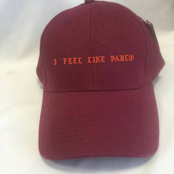 I Feel Like Pablo red/maroon baseball cap