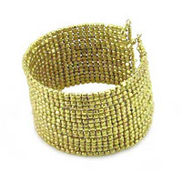 Cubist Beaded Cuff - Gold