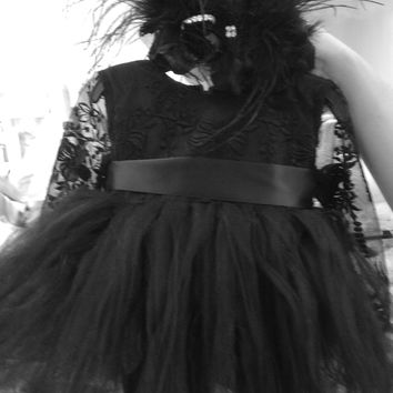 Tutu Dress-infant black tutu-flowergirl-tutu-Noir