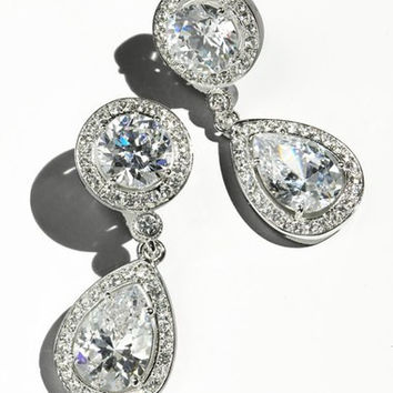 Crystal & Cubic Zirconia Drop Earrings