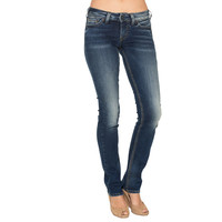 Silver Jeans Womens Tuesday Low Baby Boot Indigo Rinse Wash Jeans