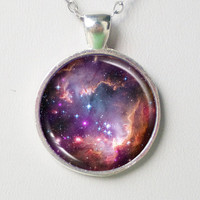 Nebula Magellanic Necklace -Small Magellanic Cloud- Galaxy Necklace Series