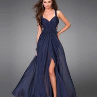 Prom Dresses Australia — A-line V-neck Chiffon Best-Selling Formal Dresses at Msdressy.com