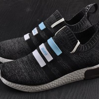 Best Online Sale Adidas Original Mega Boost NMD Omega Grey Sport Running Shoes Classic Casual Shoes Sneakers