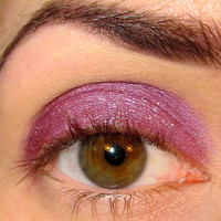 Nonetheless Eyeshadow Mineral makeup (Pretty pink red toned purple with gold shimmer) Eye shadow Eyeliner (5g)