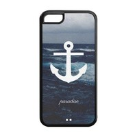 Anchors Personalized Back Protective Case for iPhone 5C