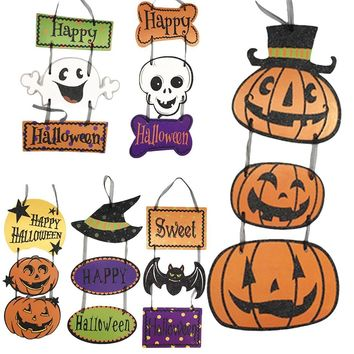 Halloween Hanging Cute Paper Pendant Pumpkin Skeleton Ghost Evening Party Arrangement Props Party Home DIY Decoration Supplies