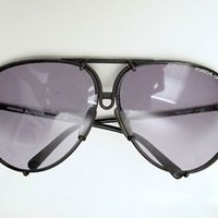 Vtg Porsche Design Carrera black gray aviator sunglasses & case 5623 90 Austria