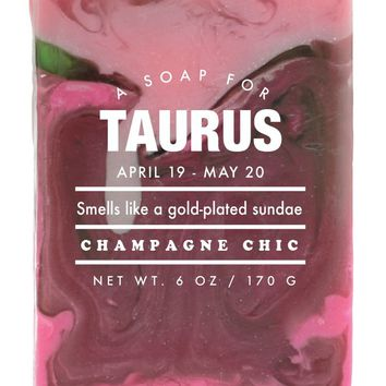 Taurus Champagne Chic Scented Soap - Smells Like a Gold-Plated Sundae
