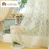 European style jacquard curtain for home window treatments curtains for kitchen