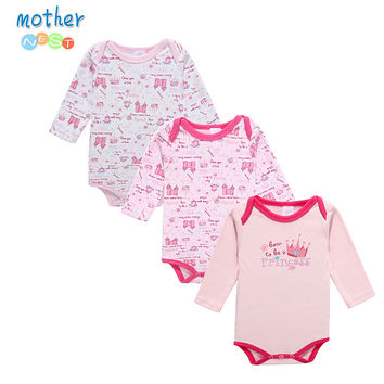 Mother Nest Newborn Romper Infant Long Sleeve Jumpsuits Boys Girl Spring Autumn Clothes Princess Wear Baby Romper