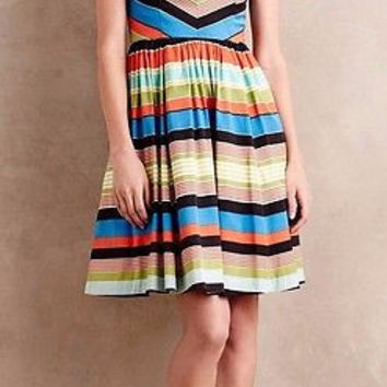 NWT Anthropologie Boardwalk Stripe Dress Sz 2 - by Tracy Reese, Retailed $398