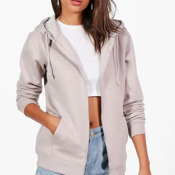 Tall Isla Zip Through Hoodie | Boohoo