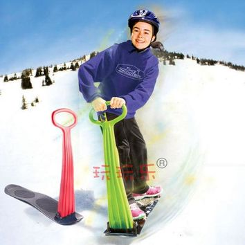 DCCKL72 Winter Foldable Snow Sleds Snowboard Snow scooter skiing Car Board For Kids Toy High Quality Free Shipping