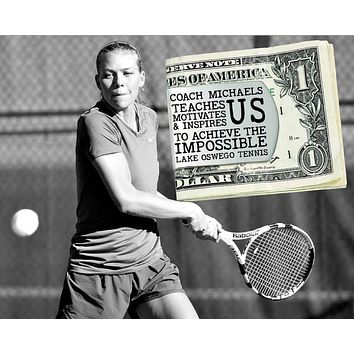 Tennis Coach Personalized Money Clip
