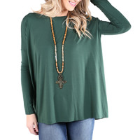 PIKO 1988 Long Sleeve Top - Forest Green