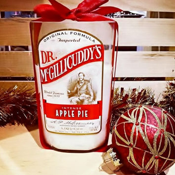 Intense Apple Pie Dr. McGillicuddy's Liqueur Bottle Soy Candle All Natural