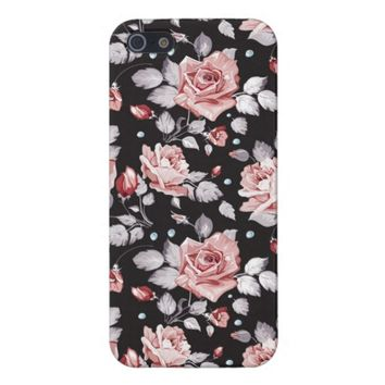 Vintage Pink Floral Pattern Girly iPhone 5 Case