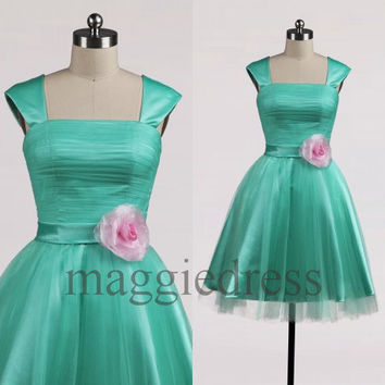 Custom Short Prom Dresess Bridesmaid Dress 2014 Party Dress Evening Dresees Wedding Party Dress Homecoming Dresses