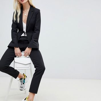 UNIQUE21 tie front blazer two-piece | ASOS