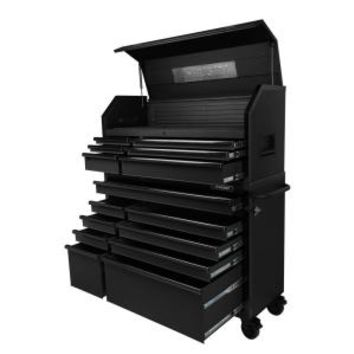 Husky 52 in. W 20 in. D 15-Drawer Tool Chest and Cabinet, Textured Black H52CH6TR9 at The Home Depot - Mobile