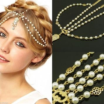 Women's  Pearl Crown Hairband Headdress - Performance & Stage Wear