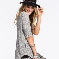 Full Tilt Be Free Womens Dolman Top Grey Combo  In Sizes