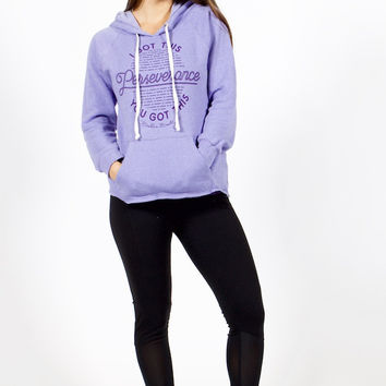 Belle and Bell Perseverance Pullover Women's Hoodie Lilac