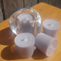 Iridecent lavender scented soy votives, Vegan light purple scented candles, ready to ship!