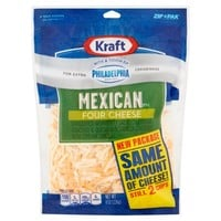 Kraft Mexican Style Four Cheese, 8 oz - Walmart.com