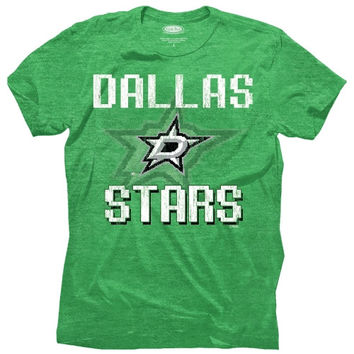 Majestic Threads Dallas Stars 8-Bit Crest T-Shirt - Green