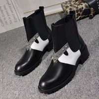 Fendi Women Fashion Rivets Short Boots Shoes